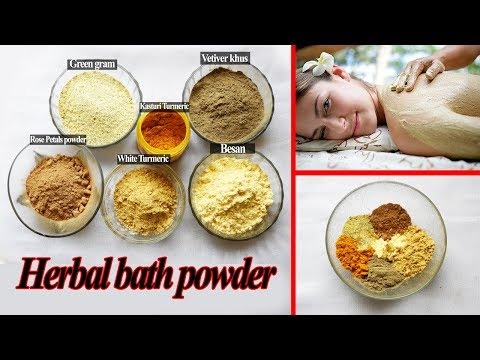 How To Make Herbal Bath Powder At Home | 100% Natural | No Side Effects