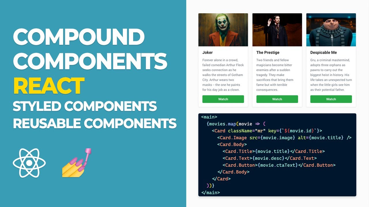 React Tutorial - Compound Components in React - Styled Components - React Tutorial 2020