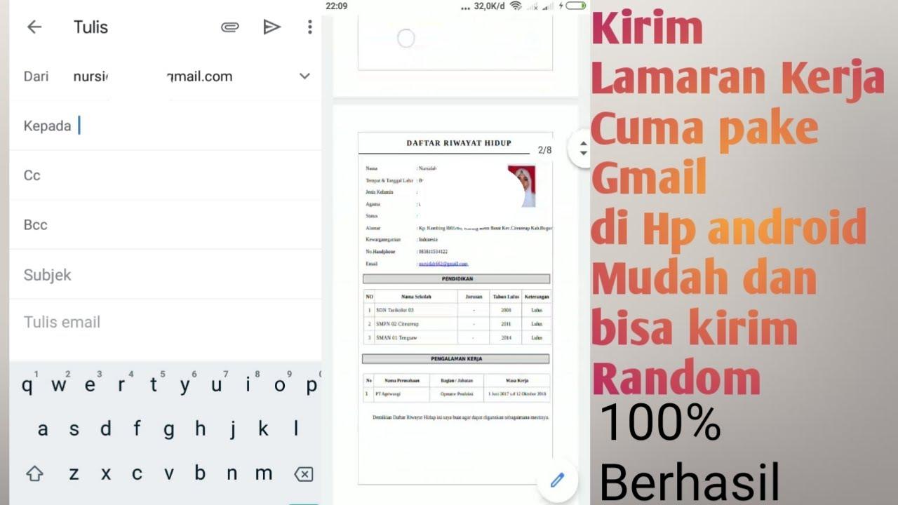 Cara kirim lamaran kerja via email - YouTube