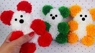 Aprenda a Fazer Ursinho Pom Pom de Lã