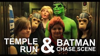 Temple Run & Batman Chase sequence - QEHS Christmas Panto 2012