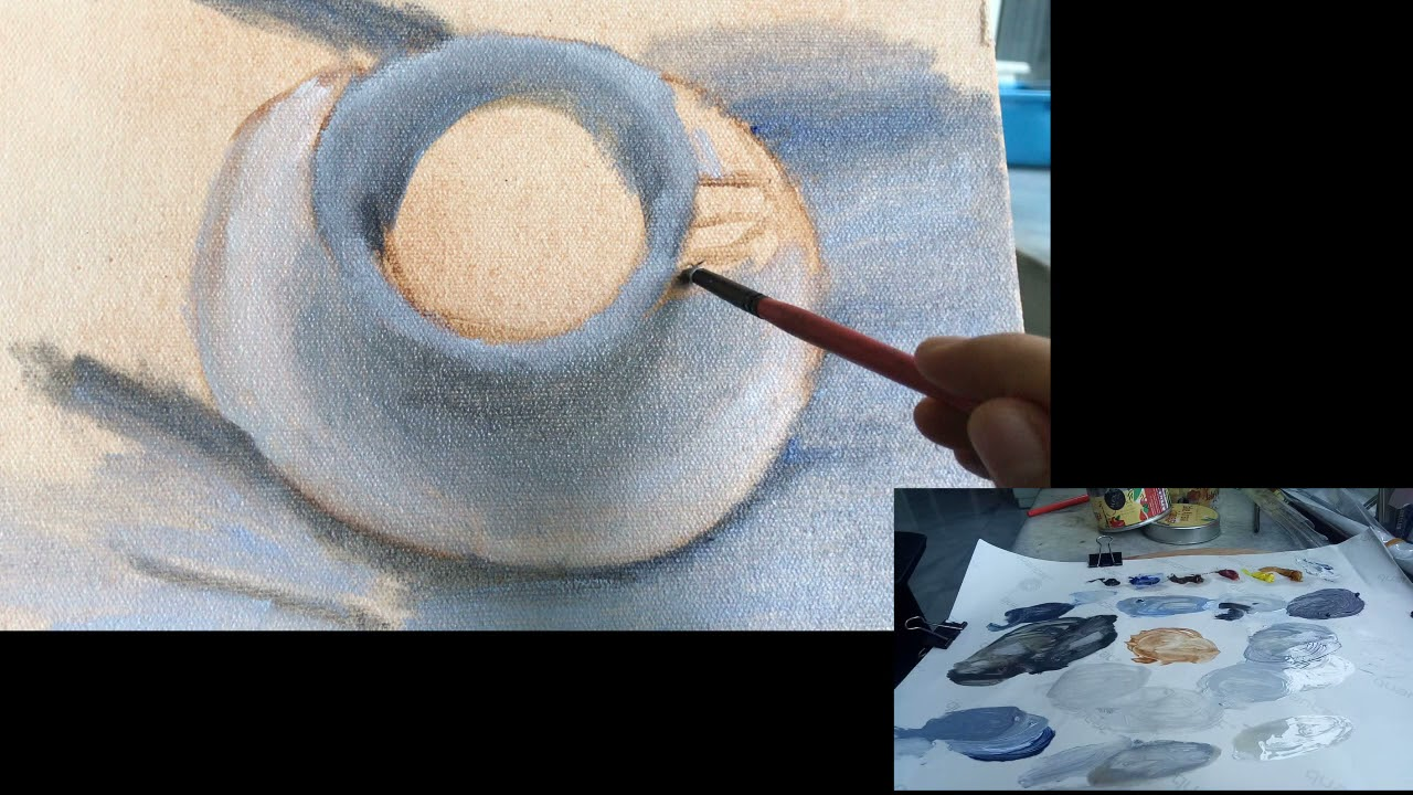 Download Alla Prima Oil Painting Timelapse- Cup of Tea [3/3]
