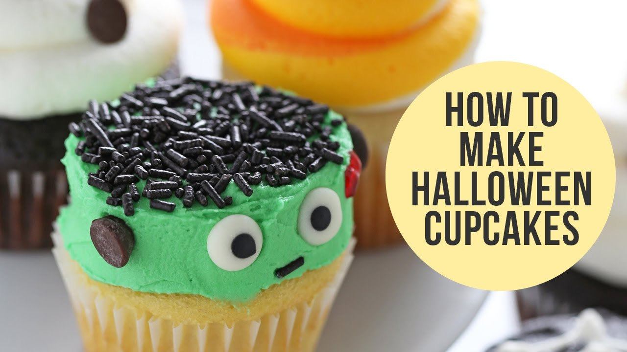 how to make halloween cupcakes 5 ways youtube
