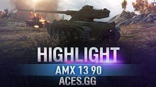 На волоске. AMX 13 90 в World of Tanks!