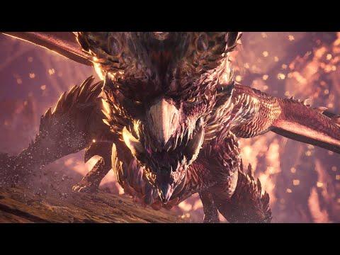 Monster Hunter World  Alatreon Boss Fight (Hammer) (4K)
