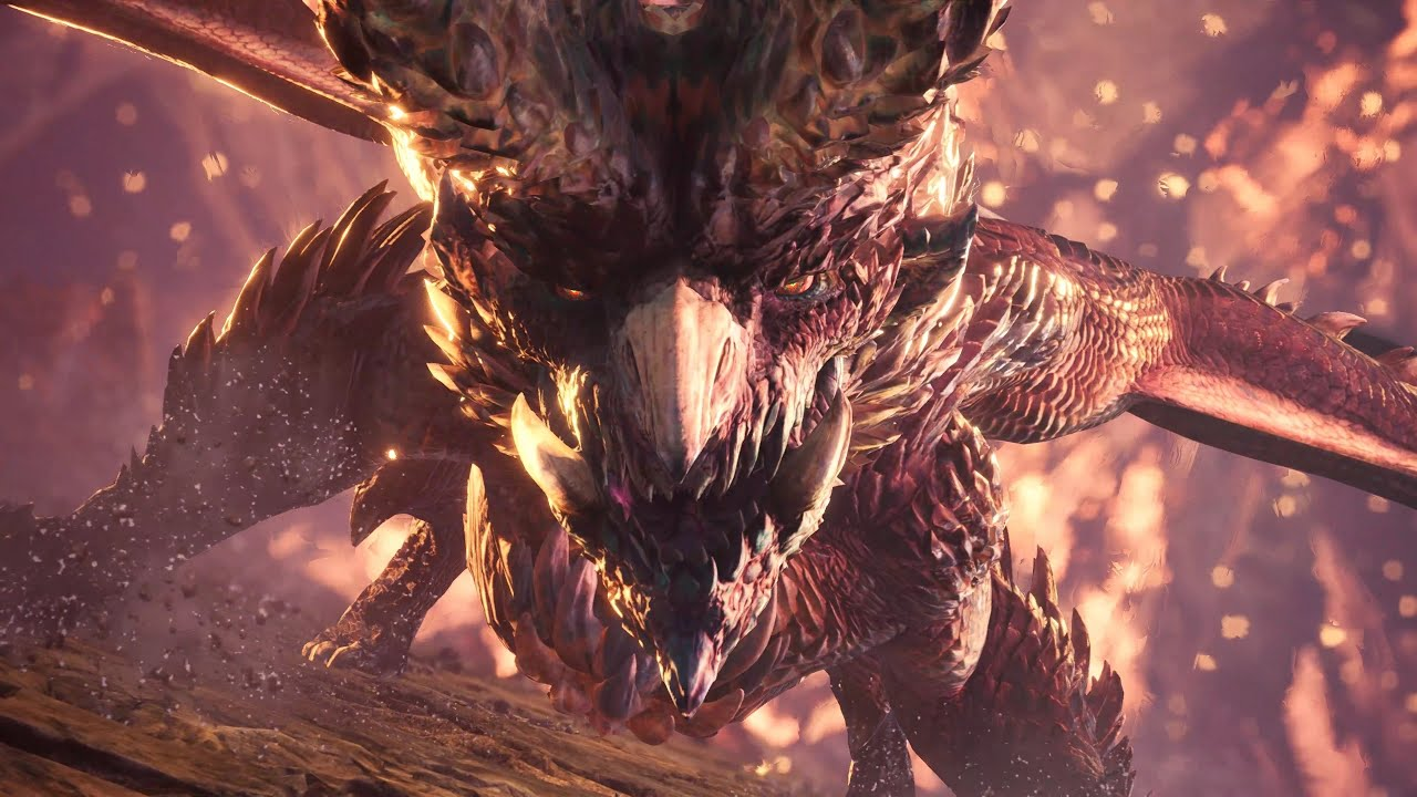 Monster Hunter World - Alatreon Boss Fight (Hammer) (4K) - YouTube