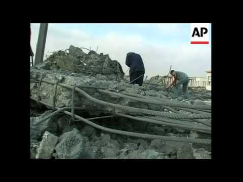 Aftermath of airstrike at Gaza airport