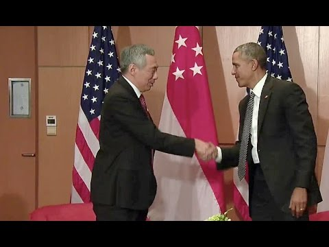 The President Meets with Prime Minister Lee Hsien Loong of the Republic of Singapore