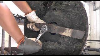 Jak naostrzyć i wyważyć nóż w kosiarce spalinowej? (+ kilka innych wskazówek)