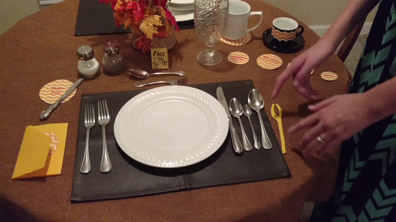Formal Dining Dinnerware Placement & Formal Dining Dinnerware Placement - YouTube