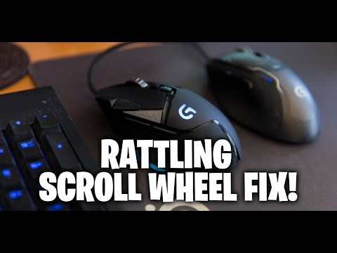 6cb3407fa8b Logitech g502 scroll wheel rattle fix - YouTube