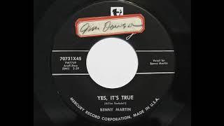 Gambar cover Benny Martin - Yes, It's True (Mercury 70731)