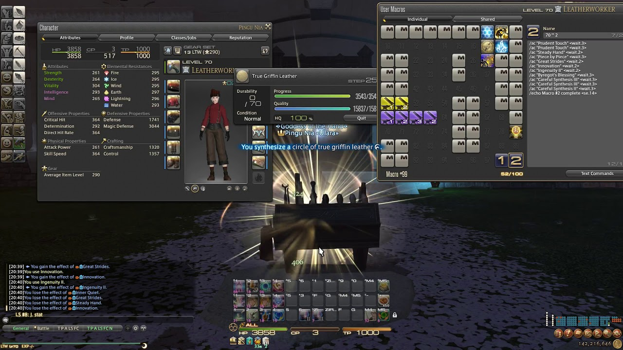 FFXIV Stormblood - Level 70 ★★ Two Star HQ Rotation/Macro