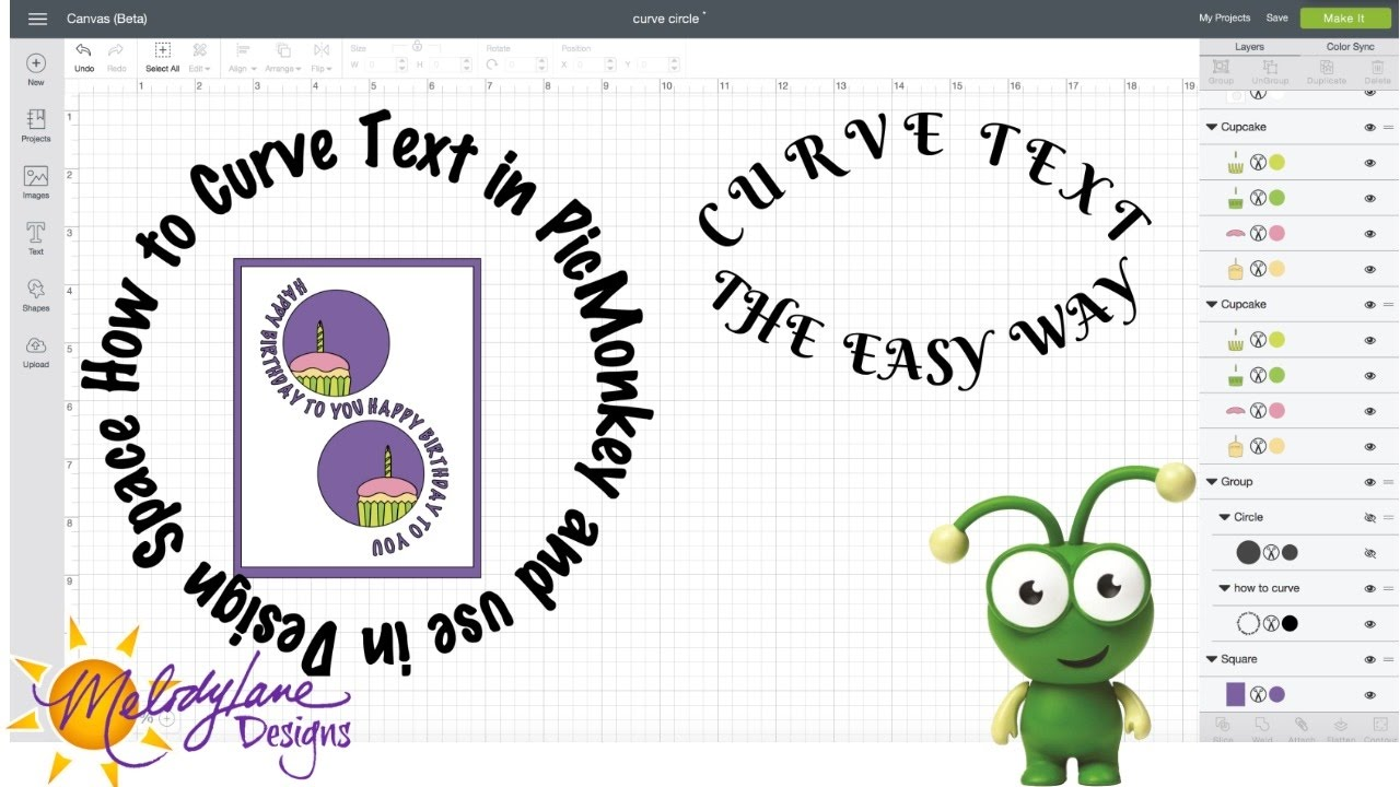 Curved Text in Cricut Design Space