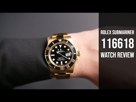 Used Rolex Submariner 18k Gold 116618 Watch Review | Bob's Watches