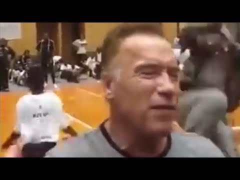 Arnold Schwarzenegger Attacked In South Africa With a DROPKICK