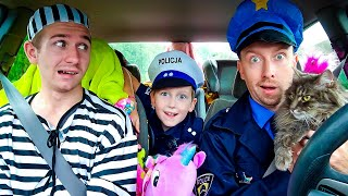Super Policemen surprise Eli in Dancing Car Ride