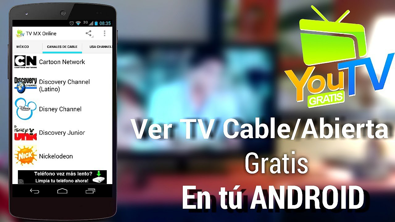 Ve Tv Por Cable Abierta Gratis Desde Tu Android Youtvmx