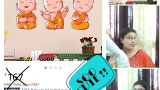 AMAZON CUTE WALL DECOR STICKERS UNDER 100/- || INDIA OCTOBER 2018