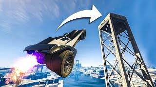 "INSANE ""BATMOBILE"" STUNTS! - (GTA 5 Stunts & Fails)"