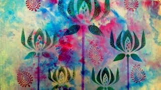 Stencil Art - Fabric Design - Block Printing Through Stencils