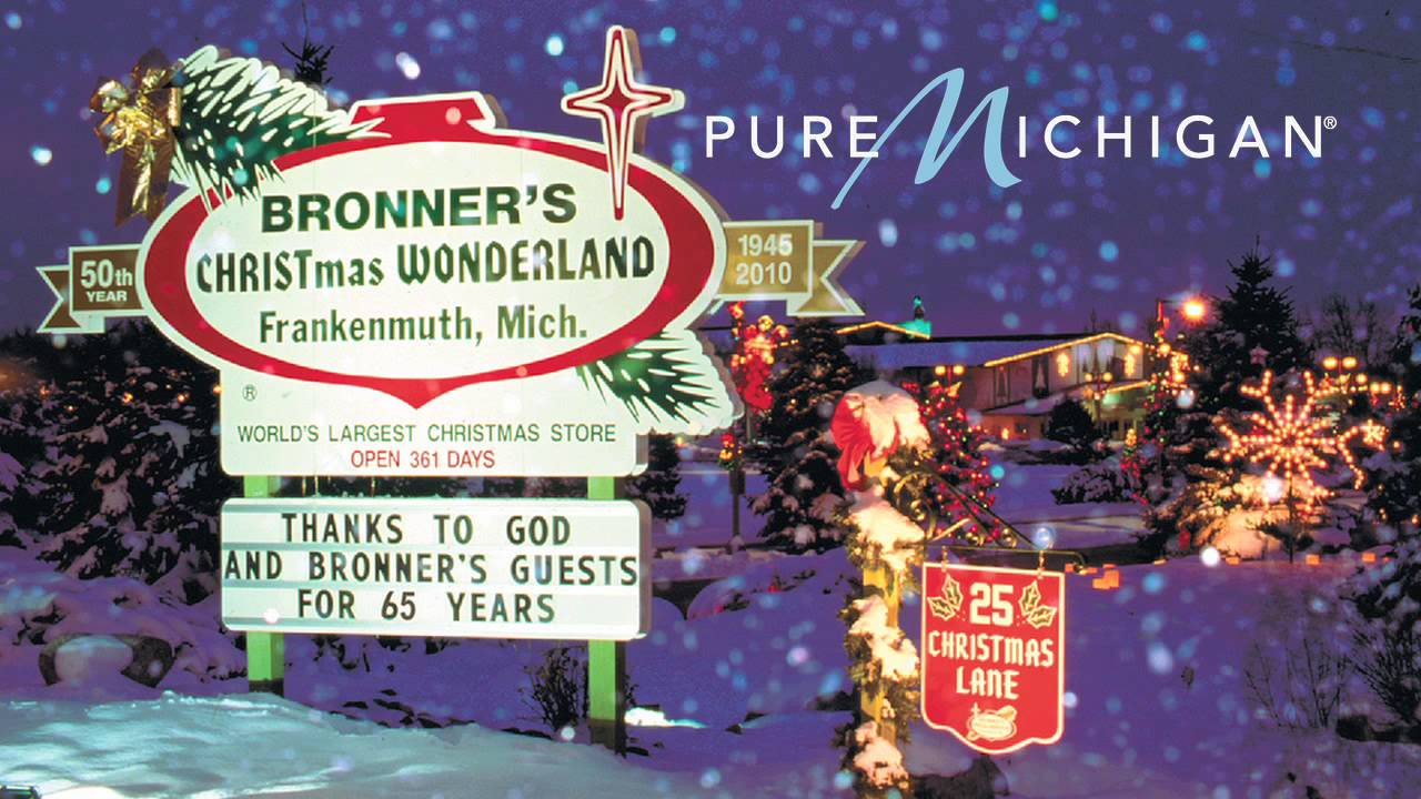 Bronner's Christmas Wonderland | Pure Michigan - YouTube