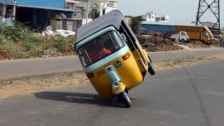 Man Breaks Record For Auto-Rickshaw Wheelie