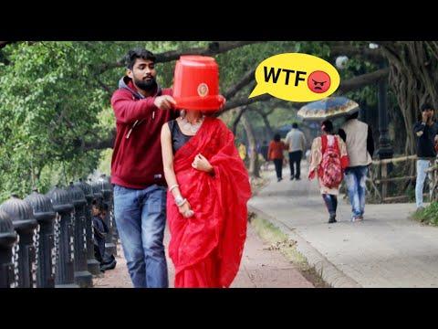 Throwing Bucket on Strangers Face 😱😱 Prank Gone Wrong | PrankBuzz