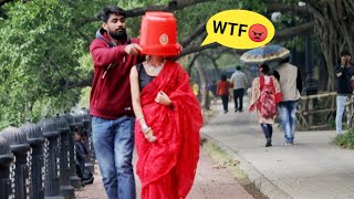 Throwing Bucket on Strangers Face 😱😱 Prank Gone Wrong | PrankBuzz