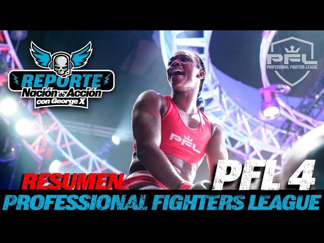 Resumen PFL #4 (Español) Claressa Shields debut en MMA, Brendan Loughnane, Bubba Jenkins y más.
