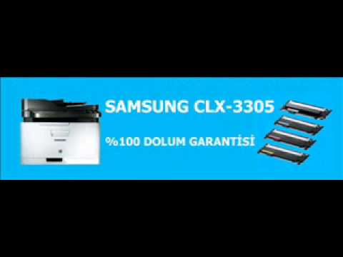 samsung clx 3305 fn toner dolum youtube. Black Bedroom Furniture Sets. Home Design Ideas