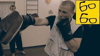 Ударная техника от Виктора Панасюка — парная работа в перчатках с утяжелителями в Белом Журавле