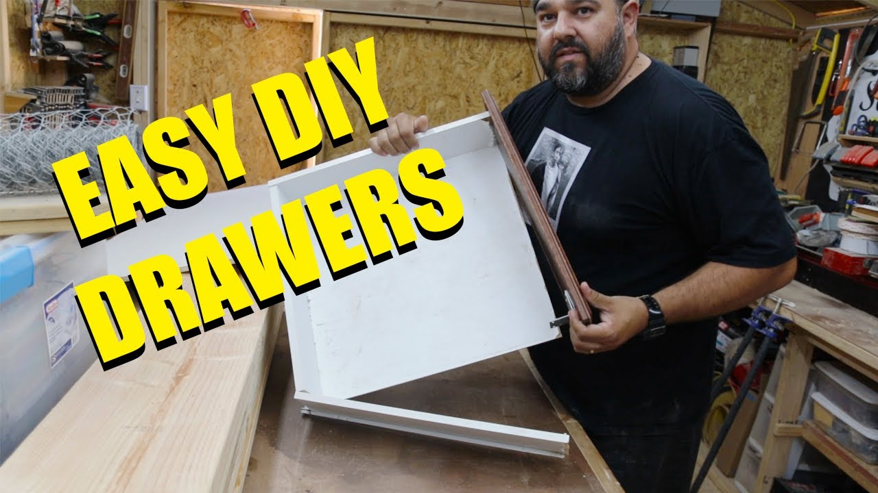 How to Make Easy DIY Drawers with Pocket Holes