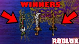 4000 SUB SPECIAL GIVEAWAY WINNERS (ROBLOX ASSASSIN H-SABER, L-SINISTER, P-KING) *WHO WON?*