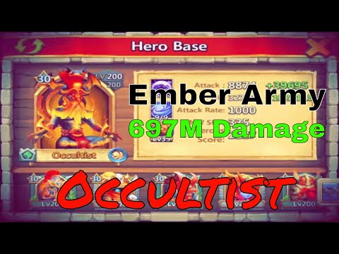 Occultist Enters Ember Army: Castle Clash New Hero Occultist Gameplay