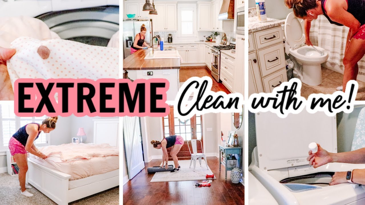*NEW* EXTREME WHOLE HOUSE CLEAN WITH ME 2020 | CLEANING MOTIVATION | HOW TO GET OUT BLOOD STAINS