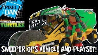 TMNT Sweeper Ops Micro Mutants Vehicle Playset Teenage Mutant Ninja Turtles Figure Video Review
