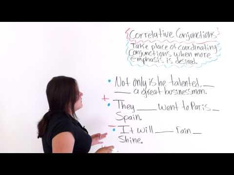 English Grammar: Correlative Conjunctions