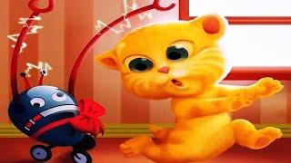 Говорящий Джинджер 2 рыжий говорящий котик #3 Весёлое видео для детей Talking Ginger