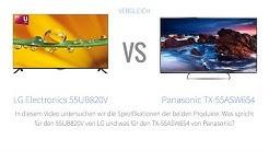 LG Electronics 55UB820V vs Panasonic TX-55ASW654 Fernseher-Vergleich [Deutsch]