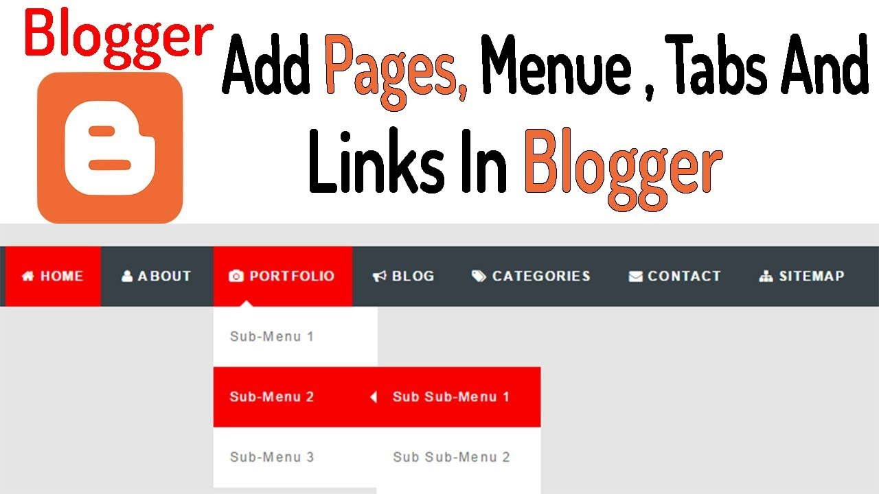 how to add tabs to blogger