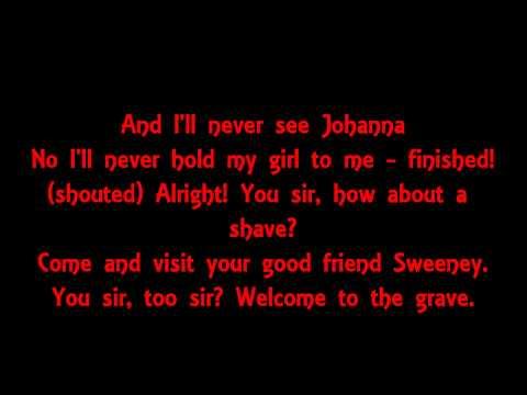 Sweeney Todd Epiphany Lyrics