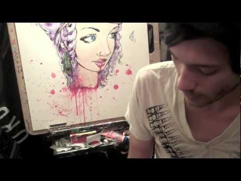 """""""Off With Her Head"""" by Ghost Town Speed Painting"""