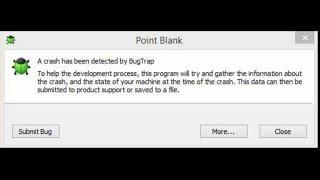 Como resolver (Corrigir) o erro do point blank!!!