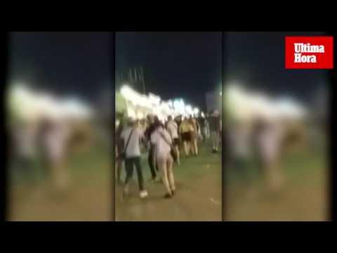 Pelea entre vendedores ambulantes en Punta Ballena