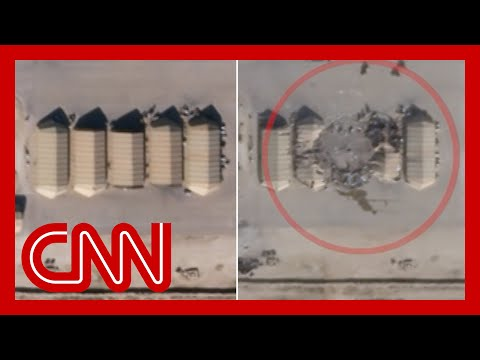 Satellite images appear to show damage from Iran missiles