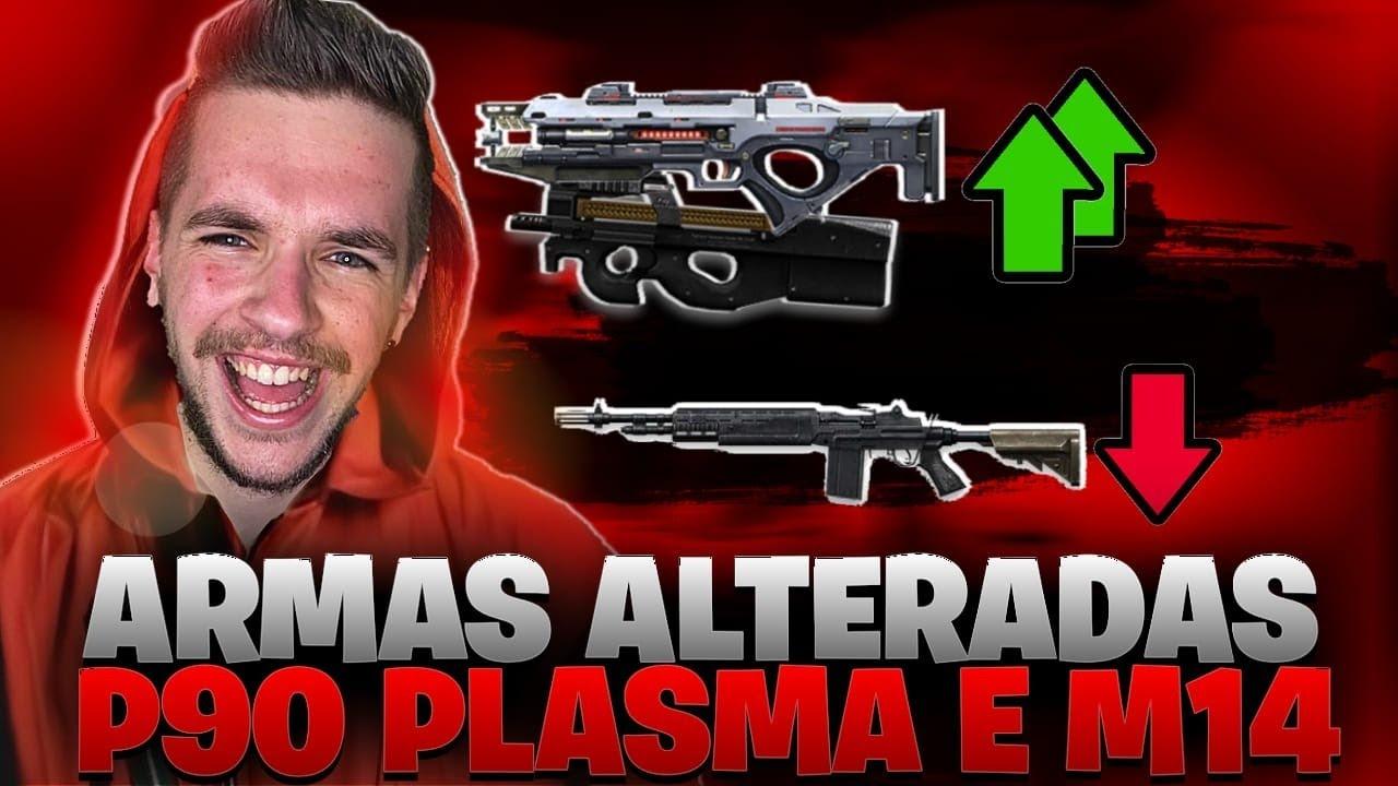 ❤️ PLASMA E P90 MELHORADAS M14 NERFADA!!! ❤️SOLO RANKED !🔴FREEFIRE AO VIVO - LIVE