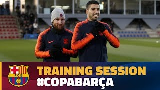 Last training session before the cup game against Valencia