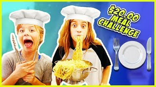 $20 MEAL CHALLENGE!! SPAGHETTI SHOW-DOWN!! SIS-VS-SIS / SmellyBellyTV