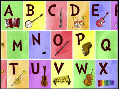 Jazzy ABC app for iPhone/iPad - Letters and musical instruments